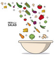 colorful poster of fresh salad with vegetables and vector image vector image