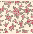 colorful seamless pattern hand drawn pink roses vector image vector image