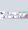 corporate identity print template set brochure vector image vector image