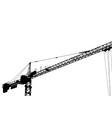 crane construction vector image vector image