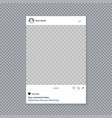 creative of social media photo vector image vector image