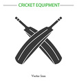 Cricket game equipment vector image vector image