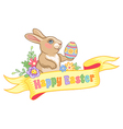 Easter rabbit ribbon vector image