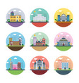 ecology industry city and countryside flat icon vector image