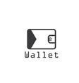 electronic wallet flat design design template vector image