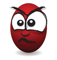 emotions eggs coloured angry vector image