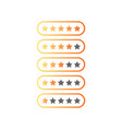 five stars ratings web 20 button yellow and gray vector image vector image