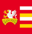 flag of gmina zamosc in lublin voivodeship of vector image vector image