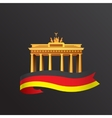 flat icon german brandenburg gate in vector image