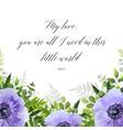 floral botanical greeting card postcard design vector image vector image