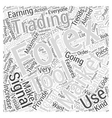 forex trading signal Word Cloud Concept vector image vector image
