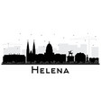 helena montana city skyline silhouette with black vector image