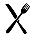 High quality fork and knife logo
