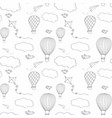 hot air baloon seamless pattern vector image vector image