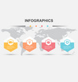 infographic design template with hexagons vector image vector image
