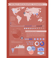 Information graphics red vector image