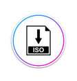 iso file document icon download iso button icon vector image vector image
