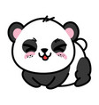 isolated cute panda bear vector image