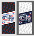 layouts for independence day vector image vector image