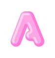 letter a candy font caramel alphabet lollipop vector image vector image