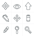 Line Icons Style Set of Icons Set Design vector image vector image