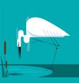 little egret stands on one leg vector image vector image