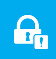 lock icon with exclamation mark vector image vector image