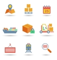 Logistic icons flat vector image vector image