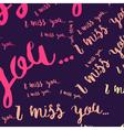 Miss words heart vector image