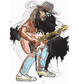 Musician - Guitar Player vector image vector image