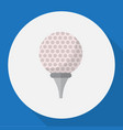 of sport symbol on golf flat vector image