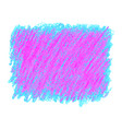 pink and blue crayon scribble texture stain vector image vector image