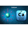 Poster of calcium atoms vector image