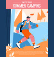 poster summer camping and time to travel vector image