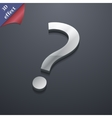 Question mark icon symbol 3D style Trendy modern vector image