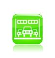 race car icon vector image vector image