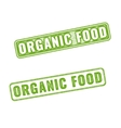 Realistic Organic food rubber stamp vector image