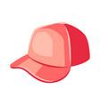 red baseball cap vector image