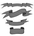 ribbon banners hand drawn gray sketch vector image