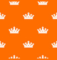 royal crown pattern seamless vector image vector image