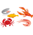 seafood graphics vector image vector image