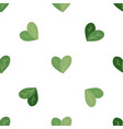 seamless flat pattern with simple hearts from vector image vector image