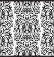 seamless floral pattern with bugs vector image vector image