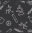 seamless pattern background chemistry science vector image vector image