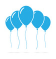 set of blue balloons vector image vector image