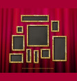 set of gold frames cinema vector image vector image