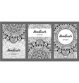 set of old ramadan flyer pages ornament vector image vector image