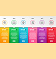 speaker contactless payment and seo phone icons vector image vector image