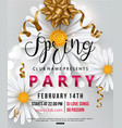 spring party flyer chamomile flower vector image vector image