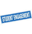 student engagement square stamp vector image vector image